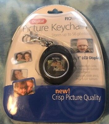 "Digital Picture Keychain-New!  Royal up to 56 photos 1.1"" Display NIP"
