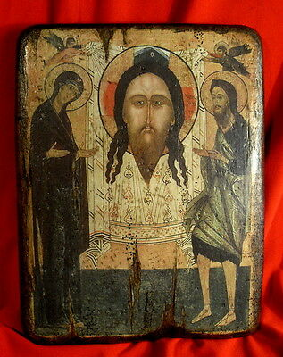 Handmade copy ancient icon ORTHODOX Prayer ICON Holy Face of Jesus Christ 13L