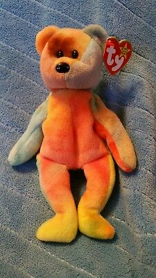 Ty beanie babies Garcia Bright yellow orange and pink
