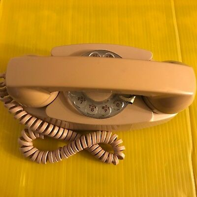 Vintage Western Electric -NJ Bell- System Princess Phone Beige Rotary Dial 702BM