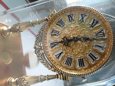 very antique 19th century schmid 8 day carriage clock, fully functional