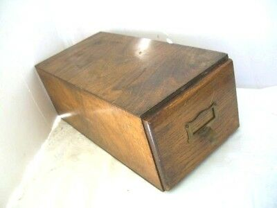 Antique Oak 20th Century 1 drawer Index Card Filing Drawers Home Office Storage