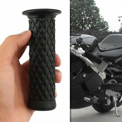 "2x 7/8"" 22mm Rubber Handlebar Hand Grip Bar End For Motorcycle Bike Cafe Racer E"