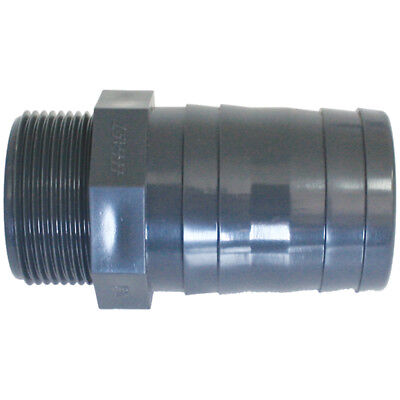 "Plastic hose barb connector / tail BSP 1/2"" - 3/4"" - 1"""