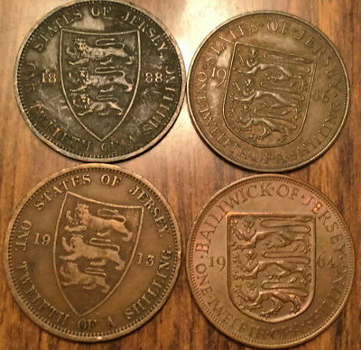 Lot Of Vintage Jersey Coins Lot Of 4 Coins