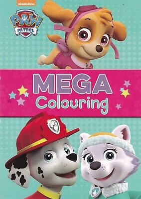 PAW Patrol Mega Colouring Book (Paperback) New Book A4 80 Colouring Pages