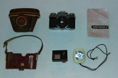 Vintage Zeiss Ikon Camera w/Tessar 45mm + Accessories