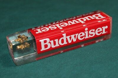 """Budweiser Lucite or Acrylic Mini 4"""" x 7/8""""  Beer Tap Tapper Handle  Gold Eagle"""
