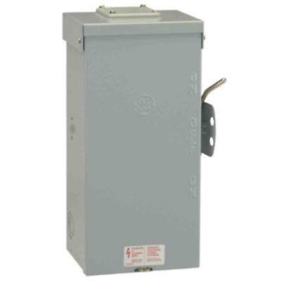 GE 100 Amp 240-Volt Non-Fused Emergency Power Transfer Switch generator outdoor