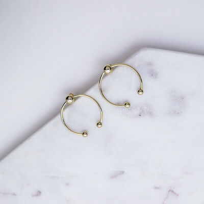 Gold / Silver O-ring Ball Stud Earring Summer Jewelry Minimalism Korean Simple