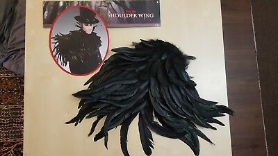 Dark Side Shoulder Wing Black Raven Crow Halloween Feather Costume Accessory