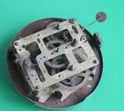Antique Haller Brass Clock Movement 11cm c.1930