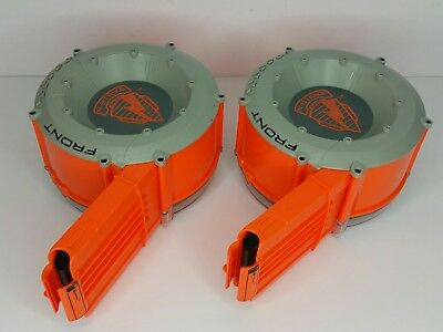 Lot of 2 Nerf N-Strike CS-35 Drum Clip Raider Ammo Dart Magazine