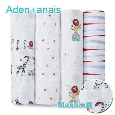 Aden+ Anais baby swaddle blanket baby sleeping swaddle muslin wrap 120*120cm
