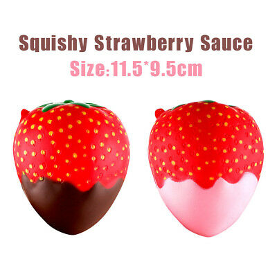 Squeeze Jumbo Stress Stretch Scented Squishy Strawberry Slow Rising Toys Gifts