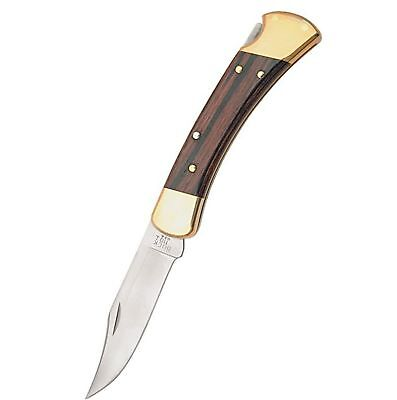 Buck Knives 110 Famous Folding Hunter Knife with Genuine Leather Sheath - TOP...