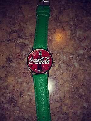 Coca Cola Watch With A Unique Colored Band