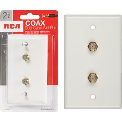 Voxx Accessories White Coaxial Wall Plate VH128R