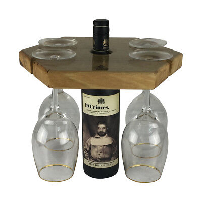 HONEYCOMB WINE GLASS HOLDER 100% Reclaimed Aussie Timber