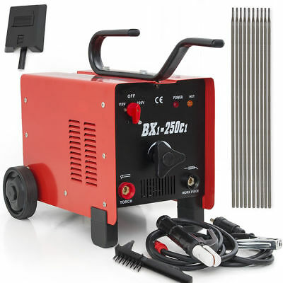 BX1-250C1 250AMP Welder 110/220V AC ARC Welding Machine w/ Free Mask Accessories