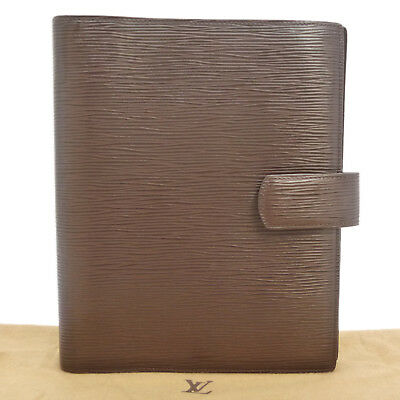 Auth LOUIS VUITTON Epi Agenda GM Day Planner Cover Brown Leather R2006D #S108026