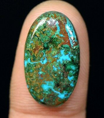 Aaa 13.65 Cts. 100% Natural Chrysocolla Oval Cab Loose Gemstones Ladylucklovers