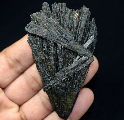 323.10 Cts. 100 % Natural Black Kyanite Rough 78*47*17 mm Fancy Mineral Gemstone