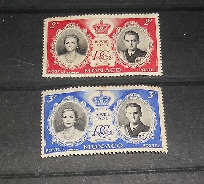 Monaco A Mint Pair Of Stamps