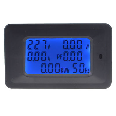 6 IN 1 LCD Digital AC Voltmeter 20A/100A 110~250V Monitor Power Meter Hz Power