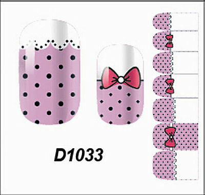 Pink Adhesive Polish Foils Nail Wrap Sticker Full Self Art Decals Decoraction ZB