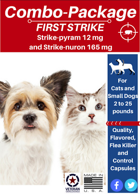 Flea Treatment Package Flea Killer (6) and Control (6) for Cats & Small Dogs