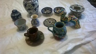 Nice Collection of 11 ceramic items including Cuban milkjug and ginger pots