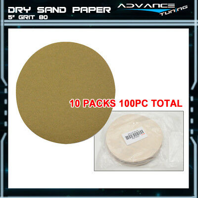 Disc 80 Grit 5 PSA Auto Sanding Paper Sheets Repair Sandpaper Magic Tape 100PCS