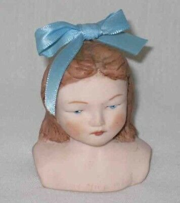 "SO PRETTY 2 1/2"" Porcelain Bisque Girl DOLL HEAD"