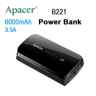 APACER Mobile Power Bank B221 6000mAh Black RP-302759373347