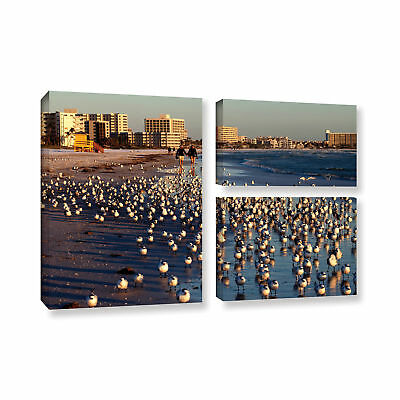 ArtWall Lindsey Janich 'Seagulls' 3 Piece Gallery-wrapped Canvas Flag Set -