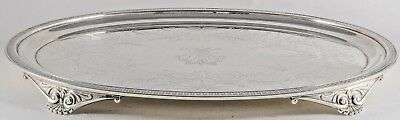 Antique Wood & Hughes Sterling Silver Footed Salver Tray