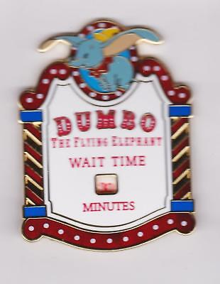 RARE disney WDI exclusive  PIN dumbo the flying elephant WAIT TIME/ LE300