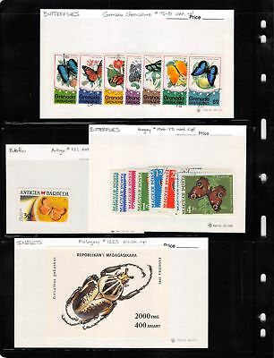 Lot of 172 Worldwide Mixed Condition Insects & Butterflies Stamps #124381 X