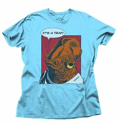 Star Wars Its A Trap PX Sky Blue Heather T-Shirt XL Tee Previews Exclusive