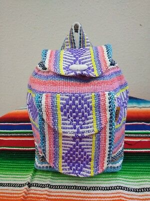 Mini Backpack, Pinzon ,hippie Gear,mexican Made,surf Gear,beach Bag ,pastel Mix