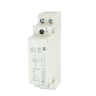 AC 240V 25A 2 Reed AC Contactor 2P Closed Domestic 35 mm DIN Rail O1R3