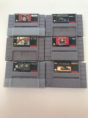 SNES Games Lot of 6 Games All In Good Working Condition FREE SHIPPING