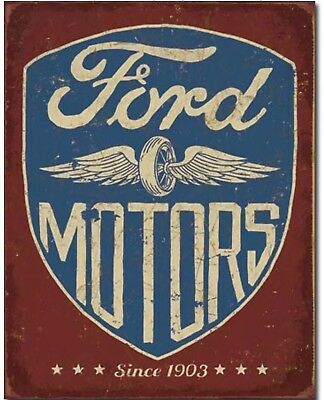 Ford Motors Since 1903 Metal Tin Sign Home Garage Bar Shop Wall Decor New