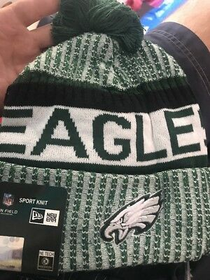 be0b6428282 Nwt Philadelphia Eagles Nfl New Era On Field Official Sideline Beanie Knit