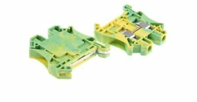 Phoenix Contact Terminal, UT Clipline Series, 0.2-10mm2, 41A, Green/Yellow PK:10