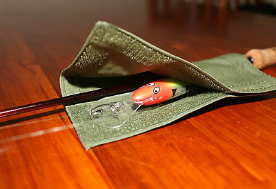 Lure  Fishing Wrap Cover.x 4 M/L Australian made with Australian Canvas. Barra