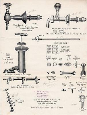 1933 August Spindler & Sons*Jersey City Nj*Bar Plumbing Supplies & Valve Mfg