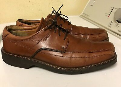 c6384b379998 Ecco Light Shock Point Men s Brown Bicycle Toe Lace Up Oxford Us 11-11.5 Eur