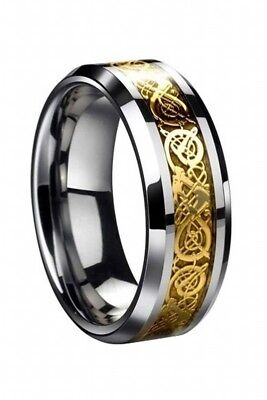 Dragon Scale Dragon Pattern Beveled Edges Celtic Rings Jewelry Wedding Band Z6R6